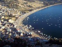 Ville de Copacabana - la Bolivie images stock