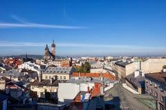 Ville de Cracovie d'en haut photographie stock libre de droits