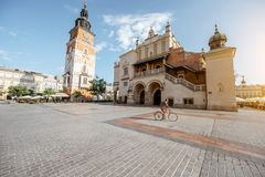 Ville de Cracovie en Pologne image libre de droits