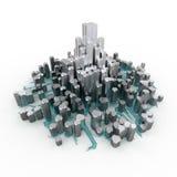 Ville de cristal illustration de vecteur