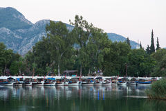 Ville de Dalyan en Turquie Photos stock