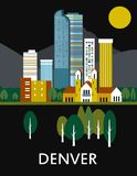 Ville de Denver dans le Colorado illustration stock