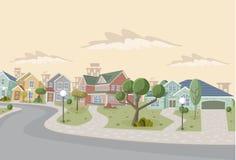 Ville de dessin animé Images libres de droits