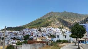 Ville de do La para chefchaouen o maroc do au fotos de stock