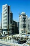 Ville de Doha en construction photos libres de droits