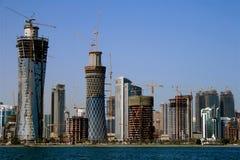 Ville de Doha, Qatar image stock