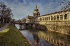 Ville de Dresde saxony l'allemagne Centre de la vieille ville image stock