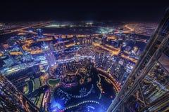Ville de Dubaï de lumière images libres de droits