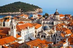 Ville de Dubrovnik en Croatie images stock