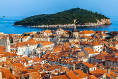 Ville de Dubrovnik en Croatie photos stock