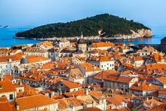 Ville de Dubrovnik en Croatie Photos stock