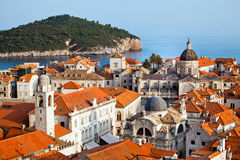 Ville de Dubrovnik en Croatie photo libre de droits