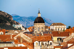 Ville de Dubrovnik en Croatie photographie stock