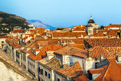 Ville de Dubrovnik en Croatie photo stock