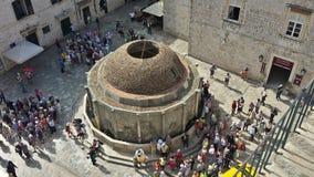 Ville de Dubrovnik et de mur, Croatie photographie stock
