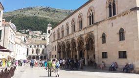 Ville de Dubrovnik et de mur, Croatie image libre de droits