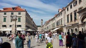 Ville de Dubrovnik et de mur, Croatie photo stock