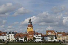 Ville de Faaborg, Danemark photo stock
