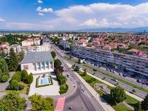 Ville de Fagaras en Transylvanie Roumanie photos stock
