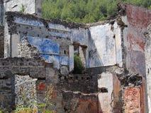 Ville de fantôme de Levissi Kayakoy images stock