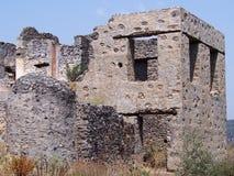 Ville de fantôme de Levissi Kayakoy photographie stock libre de droits