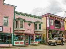 Ville de fièvre de l'or, Skagway, Alaska Photographie stock libre de droits