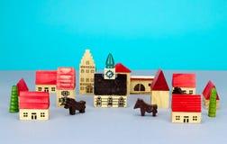 Ville de figurine Image stock