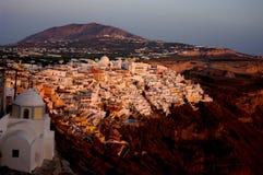 Ville de Fira dans Sanorini Photo libre de droits