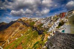 Ville de Fira, Santorini image libre de droits