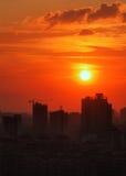 Ville de fleuve de Wuhan-le Image stock