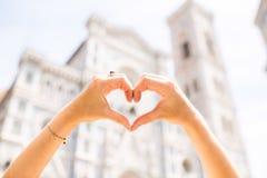 Ville de Florence d'amour Photos libres de droits
