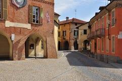 Ville de Fossano, province de Cuneo, Italie Photographie stock libre de droits