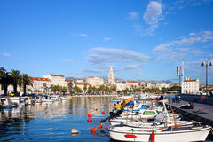 Ville de fractionnement en Croatie photo stock