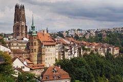 Ville de Fribourg Photo libre de droits