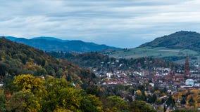 Ville de Fribourg en automne image libre de droits