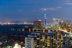 Ville de Fukuoka au Japon Images libres de droits