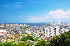 Ville de Fukuoka, Japon Image libre de droits