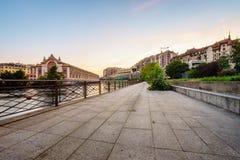 Ville de Genève au coucher du soleil, Suisse Images stock