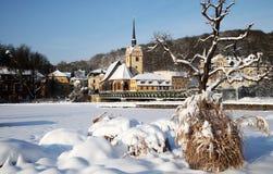Ville de Gera en hiver Photographie stock