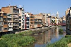 Ville de Girona Photo libre de droits