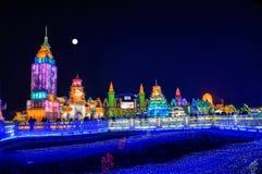 Ville de glace de Harbin Photos libres de droits