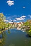 Ville de Gospic sur la rivière de Lika Image libre de droits