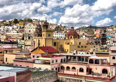 Ville de Guanajuato du centre Image stock