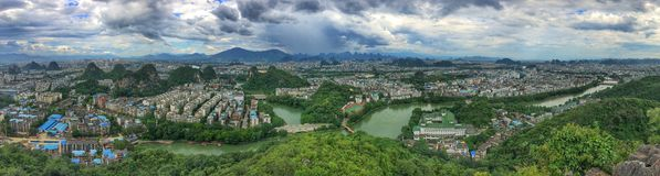 Ville de Guilin Images stock