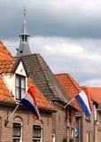 Ville de Hattem le jour de la Reine Image stock