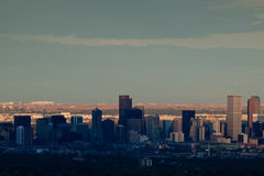 Ville de haut de mille de Denver par nuit Photo libre de droits