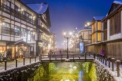 Ville de Hot Springs de Japonais Photos libres de droits