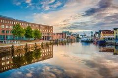 Ville de Husum, Nordfriesland, Schleswig-Holstein, Allemagne photo stock