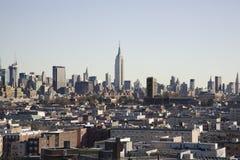 Ville de Jersey avec Manhattan derrière Image libre de droits