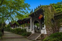 Ville de Jiangsu Wuxi Huishan Photos stock